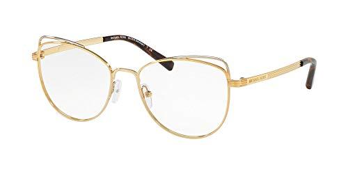 Michael Kors Damen Brillengestelle 0MK3025, (Lite Gold), 53 mm
