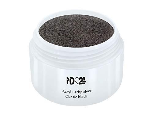 Acryl Farbpulver Classic Black Schwarz - Feinstes Farb Puder Pulver Powder - Studio Qualität