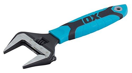 """OX Tools OX-P324606 Llave Inglesa con Boca Extra Ancha, Multicolor, 6"""" (150mm)"""