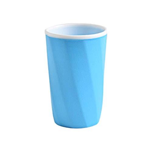 LLAAIT Badkamer Tumblers Tandenborstel Cup Tandpasta Houder Straw Cup Drinkbeker Tandbeker Servies Vaatwasbak, Blauw
