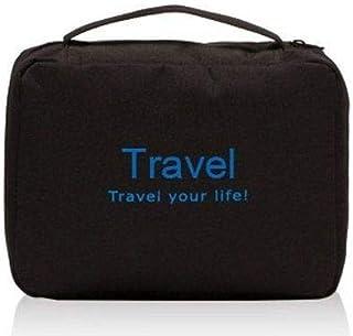حقيبة عملية جدا ومنظمة لأدوات التجميل والإستحمام وغيرهم أثناء السفر لون أسود
