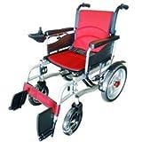 Silla de ruedas Ok multifunción eléctrica Plegable con Orinal portátil Multi-función Plegable Coche eléctrico (Color : Red)