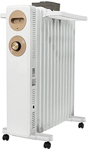 Radiador de aceite, 13 findas 2. 2KW Aceite eléctrico portátil de estilo europeo Llenado del radiador de calefacción en Blanco / Tendedero / / 3 configuraciones de calor humidificador de aire / interr