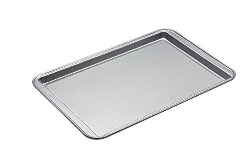 Kitchen Craft KC2BK6 Teglia Antiaderente da Forno, 43x29x1.5 cm, Argento