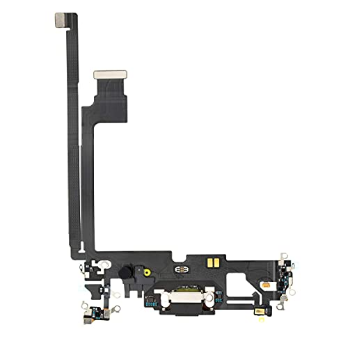 Best Shopper - Replacement Charging Charge Port Flex Cable with Microphone for Apple iPhone 12 Pro Max - Graphite