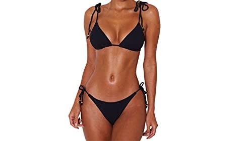 E-WAY · Traje de baño para Mujer Color Negro de Estilo Moderno. para lucir Sexy Este Verano (Mediana)