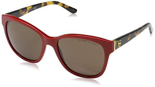 Ralph Lauren Damen 0Rl8143 559973 55 Sonnenbrille, Rot (Shiny Laque Red/Brown)