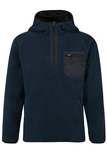 Indicode Trent Herren Fleecejacke Sweatjacke Jacke mit Kapuze, Größe:L, Farbe:Navy (400)