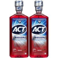 ACT Alcohol Free Anticavity Fluoride Rinse-Cinnamon-18 oz, 2 pk