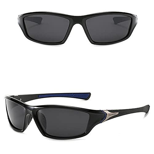 WQZYY&ASDCD Gafas de Sol Gafas para Hombre Gafas De Sol Polarizadas Hombres Al Aire Libre Deportes Gafas De Conducción Gafas De Sol De Visión Nocturna Gafas-Black_Blue_Black