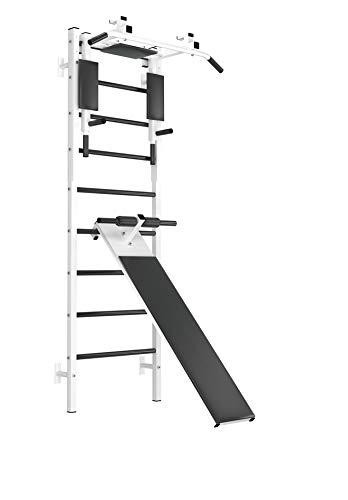 Megapolis Übungshalterung für Oberkörper | Fitness schwedische Leiter | Klimmzugstange | Oberkörpertraining | Wandstange | schwedische Leiter