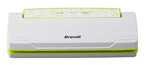 Brandt SOU-110V SOU110V SOU110V-Appareil de Mise sous Vide Alimentaire-Emballeuse pour Aliments-Longue Conservation-Blanche, 110 W, Vert, Blanc