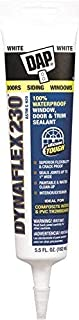 DAP, White 18285 Dynaflex 230 Premium Indoor Outdoor Sealant with 5.5-Ounce Tube