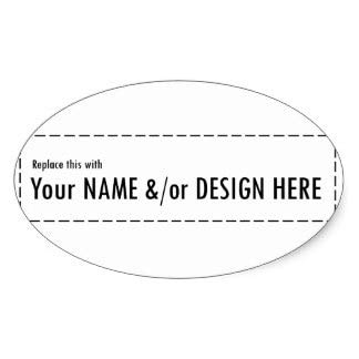 4x2cm Design Your Own Custom Personalize Name Design Oval Sticker