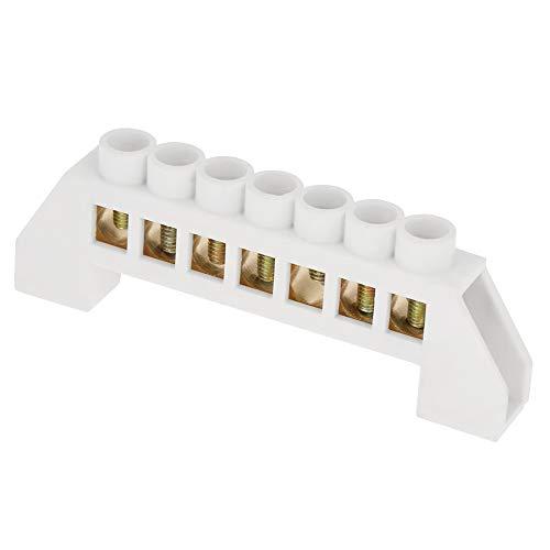 Bloque de terminales de 10 Uds, Diseño de puente de 7 orificios,...