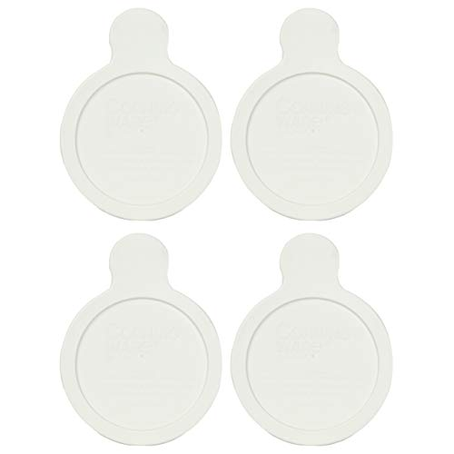 CorningWare Visions Grab-it P-150-CPC 15 Ounce French White Plastic Lid - 4 Pack