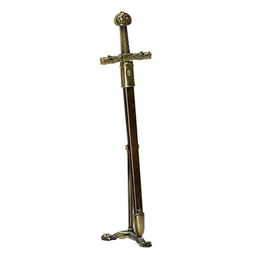 Brieföffner Schwert Karl der Große mit Scheide und Ständer