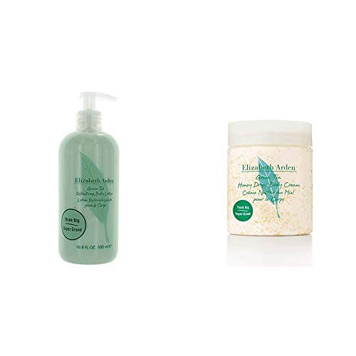 Elizabeth Arden Green Tea, Refreshing Body Lotion, 1er Pack (1 x 500 ml) & Green Tea Honey Drops Body Cream, 1er Pack (1 x 500 ml)