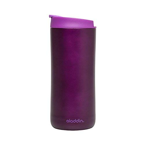 Aladdin 33460 Edelstahl-Thermobecher / Isolierbecher, vakuum isoliert, 0,35 L, berry