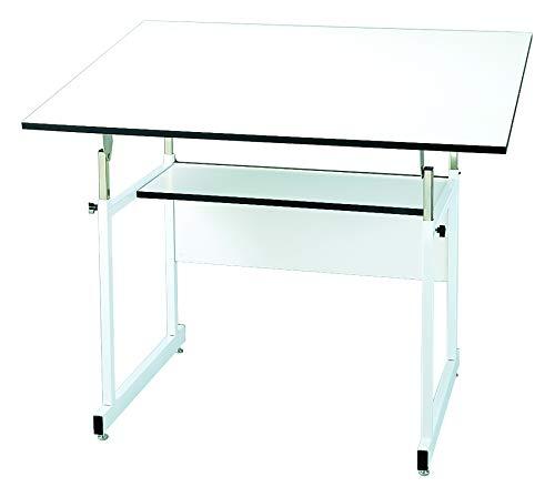 Alvin, Workmaster Jr, WMJ48-3-XB, 4-Post Table, Black Base with White Top - 36' x 48'