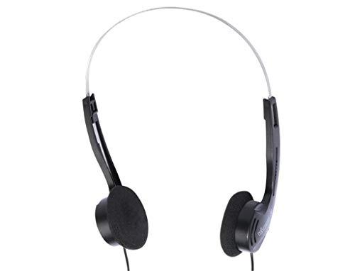 Vivanco SR 3030 - Auriculares de Diadema estéreo (101 dB, Conector Jack de 3,5 mm, Cable 1,1 m), Color Negro