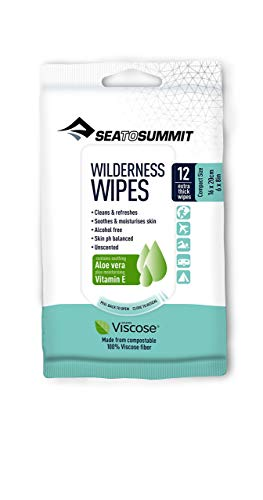 Sea To Summit Wilderness Compact-Packet of 12 Wipes Accessoires Escalade, Adultes Unisexe, Blanc, Taille Unique
