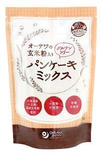 オーサワの玄米粉入りグルテンフリーパンケーキミックス200g*6袋