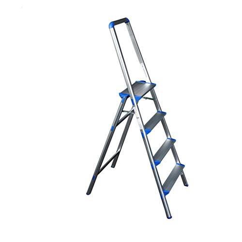 Vier verdiepingen Pedaal Home Ladder, Metaal Lichtgewicht Ladder Beveiliging Versterking Ladder Eenvoudige Indoor Trappen Maat: 47 * 73.5 * 146 Cm 47 * 73.5 * 146cm