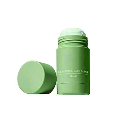 Jackallo Green Tea Purifying Clay Stick Mask, Oil Control Anti-Acne Cleansing Solid Mask for all Skin Types