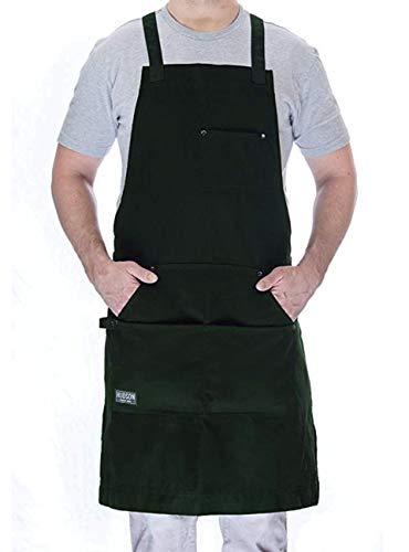 Hudson Durable Goods Kochschürze für Küche, Grill und Grill hunter green
