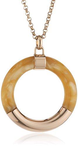 ESPRIT Damen Halskette Edelstahl Kunststoff Marbled ESNL13013A800