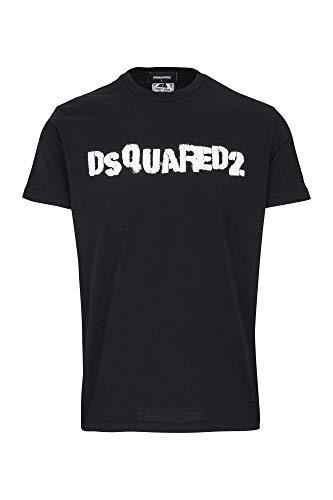 Dsquared2 Herren T-Shirt Logo Nero L