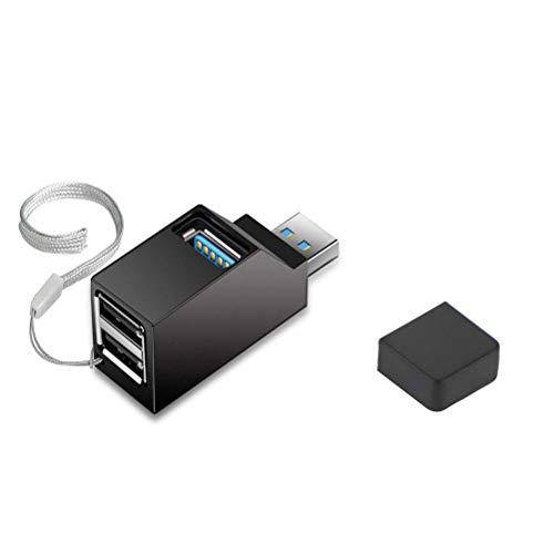 SASKATE - Hub USB 2.0 3 in 1, splitter ad alta velocità per notebook PC, chiavette USB, mouse, utilizzare computer e telefono al momento, ricarica in qualsiasi momento.