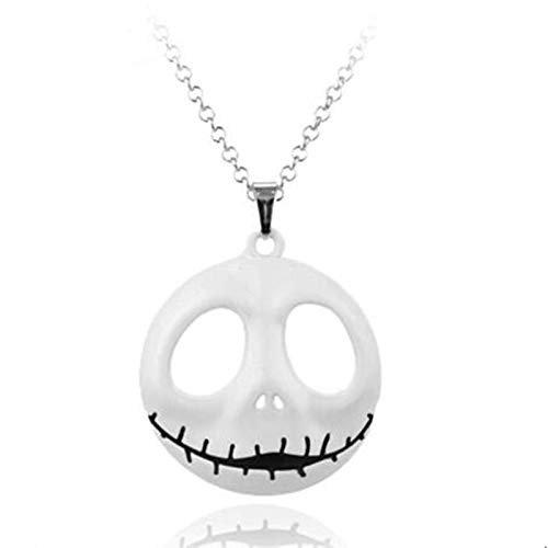 LKITYGF Perfect Key chain The Nightmare Before Christmas Pendant Jack Skellington Metal Charms Necklace Keyholder Men Women (Color : 4)