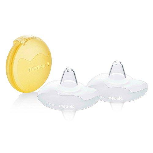 Medela Contact Brusthütchen – BPA-frei – Aus ultradünnem, weichem Silikon – Inklusive 2 Brusthütchen und Etui – 24 mm, groß
