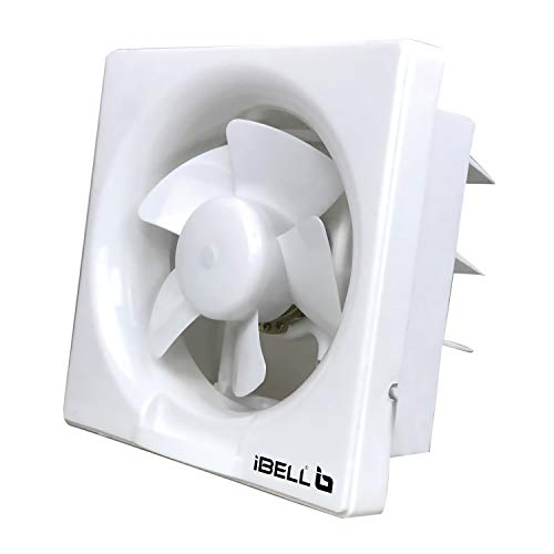 iBELL VF250W Ventilation, Exhaust fan for Home, Office, Kitchen and Bathroom with 250mm Sweep,RPM: 1300 (10 inches, White)