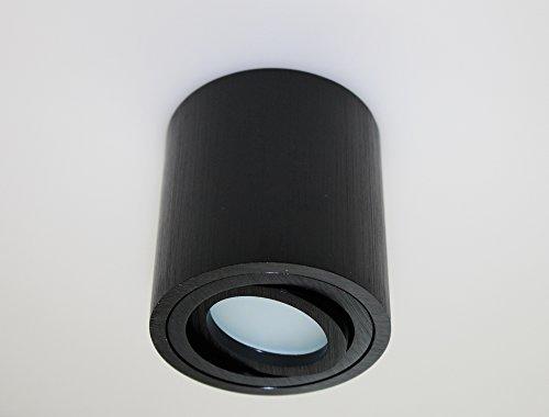 Aufbauleuchte Aufbaustrahler Unterbaustrahler Unterbauleuchte/Helitec-1122 mit GU10 Fassung/schwarz Aufbauspot Spot Deckenleuchte Deckenspot Möbelleuchte Schrankleuchte