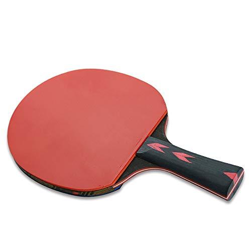 Paleta de Ping Pong Tabla Raqueta de Tenis 2 Sticks Doble Raqueta de formación Profesional Mesa de Ping Pong Raqueta Raqueta Pong Raquetas Pro Premium (Color : Multi-Colored, Size : 15x26cm)
