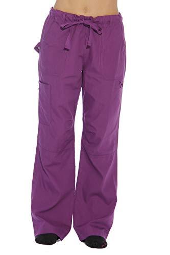 24000PEGG-XL Just Love Women's Utility Scrub Pants / Scrubs, Eggplant Utility, X-Large