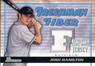 Josh Hamilton Unsigned 2002 Bowman Jersey Card - Baseball Game Used Cards