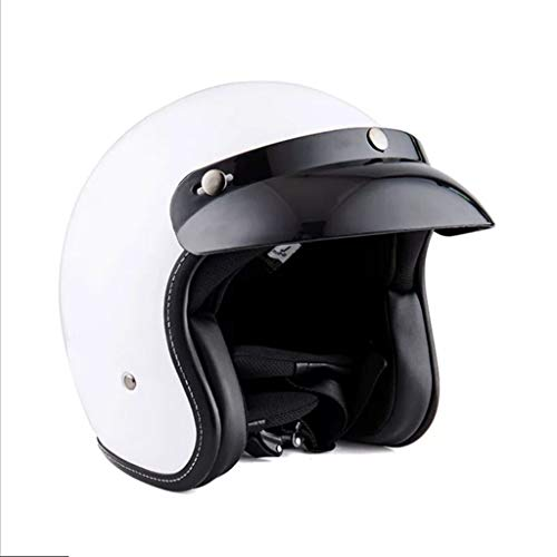 GAOZHE Cascos Retro Classic Moto,Transpirable Cálido Adulto Hombres Mujeres Casco Jet ECE Certificado Forro Transpirable y Cómodo Bicicleta Casco Patinete Electrico con Gafas de Doble
