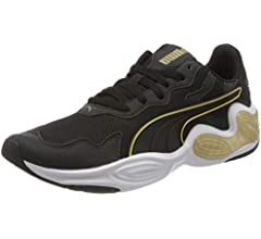 PUMA Cell Magma WNS, Zapatillas de Running para Mujer, Negro Black White/Gold 02, 36 EU: Amazon.es: Zapatos y complementos