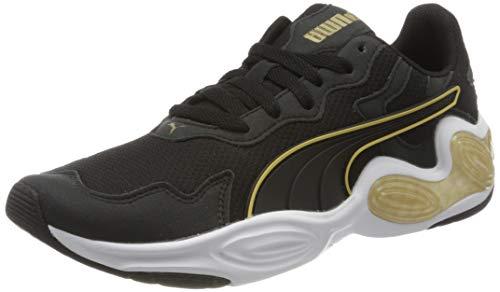 PUMA Damen Cell Magma WN's Sneaker, Schwarz Black White-Gold, 40 EU