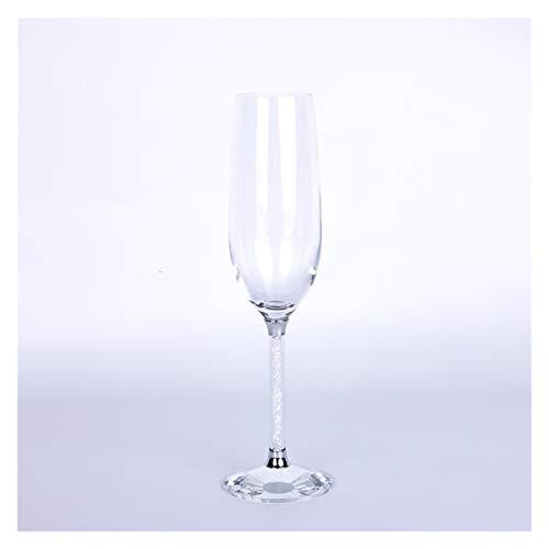 EMEI Beber Vidrio Boda Champán Gafas Flautas Barra de Fiesta Bubble Vino Tulip Copa de cóctel Tumbler Mest Gifts (Capacity : 250ML, Color : Clear)