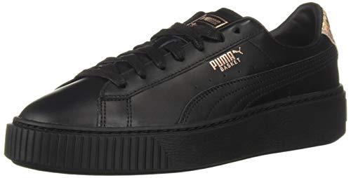 PUMA Basket Platform Sneaker Donna, nero (Puma nero oro rosa), 40 EU