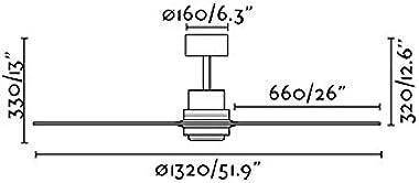 Faro Barcelona 33373 - LANTAU Ventilateur de plafond nickel mat/pin