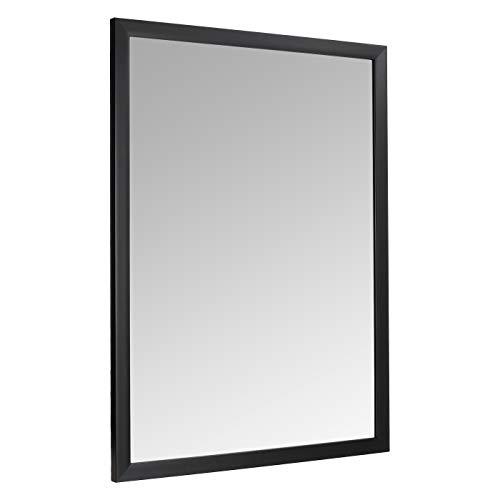 AmazonBasics Rechteckiger Wandspiegel, 76,2 x 101,6 cm, Standard-Rand, Schwarz