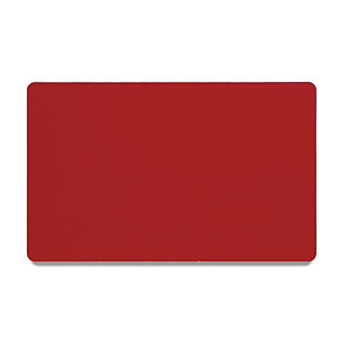Bastex Pack of 60 Red Metal Cards Blanks for Business Card Engraving. Blank, Aluminium and Thin Credit Card Sized Cards for Laser Engraving DIY Gift Cards (Red)