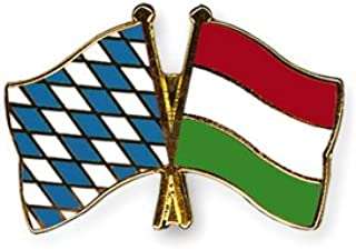 Yantec Freundschaftspin 2er Pack Deutschland Ungarn Pin Anstecknadel Doppelflaggenpin