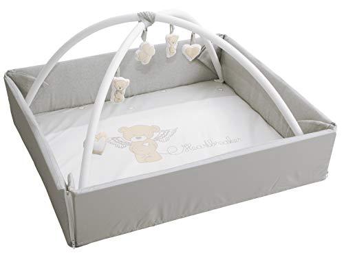 roba Baby Nest 4in1 'Heartbreaker', abwaschbare Wickelauflage mit Absturzsicherung, Kuschelnest, Spiel- & Krabbeldecke, Activity Center mit Spielbogen & Spielelementen & Laufgittereinlage